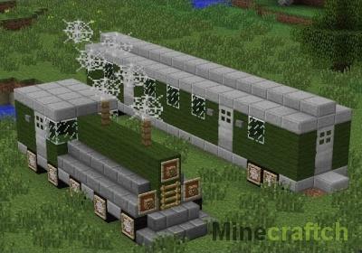 Как построить поезд в Майнкрафте без модов?