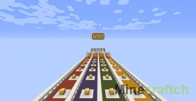 Карта Lucky Block Race для Minecraft (без модов)