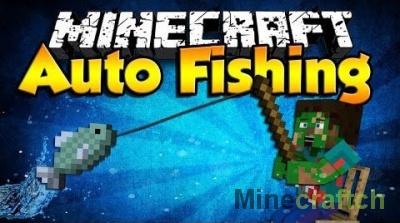 Autofish - мод на автоматическую рыбалку в Майнкрафт