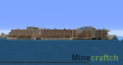 Карта King Gopo — круизный лайнер в Minecraft