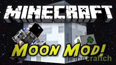 Moon Mod — полет на Луну в Minecraft 1.7.2/1.7.10/1.8.9