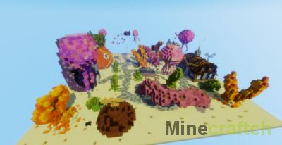 Карта Spongebob Jump — паркур с Губкой Бобом в Minecraft