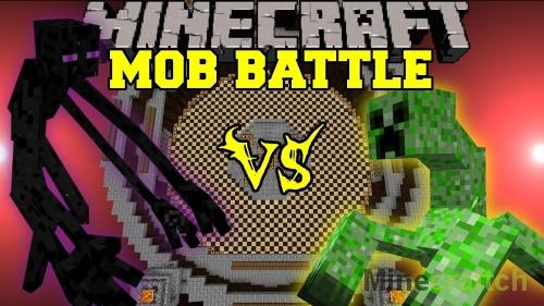 Mob Battle Mod — битва мобов в Minecraft