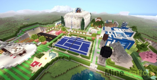 Карта Mega Redstone House — большой механический дом в Minecraft