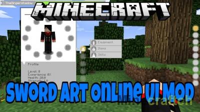 SAO UI Mod — Мастера Меча Онлайн в Minecraft 1.7.10/1.10/1.8.*/1.9.*