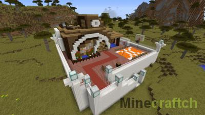 Redstone House — карта «Редстоун дом» в Minecraft