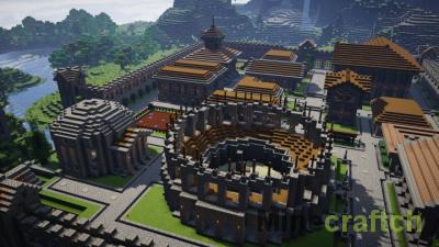 Карта Novum Helinium — римский город в Minecraft