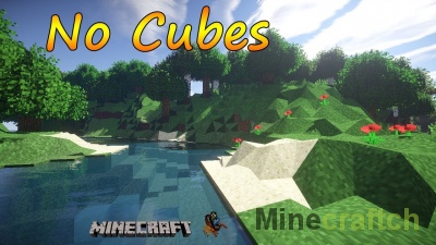No Cubes — мод на мир без кубов в Minecraft 1.7.2/1.7.10