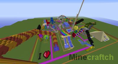 Карта AquaPark — аквапарк в Minecraft 1.7.10+