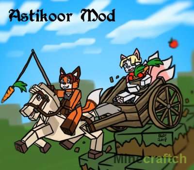 Astikoor — мод на повозку для лошади в Minecraft 1.12.2/1.11.2/1.10.2/1.7.10