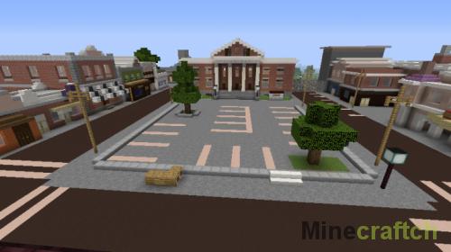 Карта Хилл-Вэлли 1985 — «Назад в будущее» в Minecraft