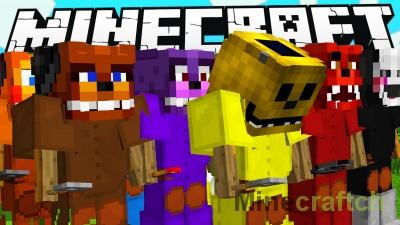 Команда для командного блока на FNAF в Minecraft 1.8.9/1.8