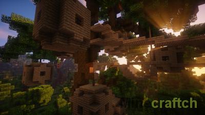 Village in the trees — карта «Деревня на деревьях» для Minecraft