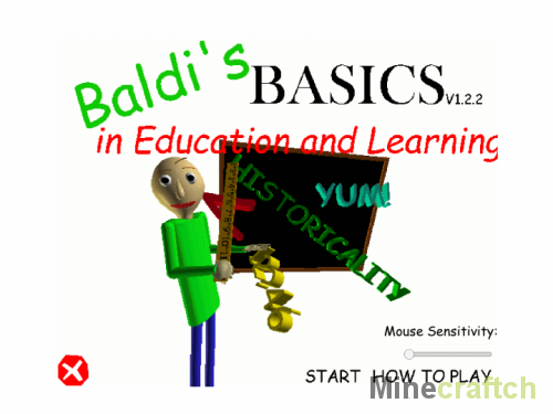 Карта Baldis Basics in Education and learning для Minecraft 1.12.2