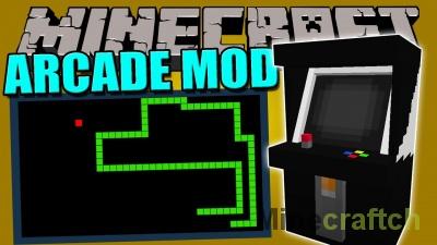 Arcade Mod — игровые автоматы в Minecraft 1.12.2/1.11.2