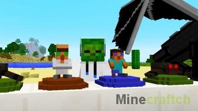 Salradahn's collectibles — мод на фигурки в Minecraft 1.12.2