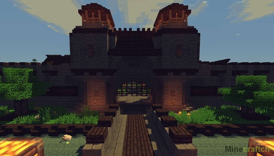 Medieval Fantasy Town – карта для Minecraft