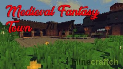 Карта Medieval Fantasy Town — средневековый город в Minecraft 1.12.2