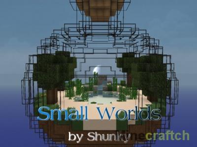 Small Worlds — карта на выживание в бутылке для Minecraft 1.13