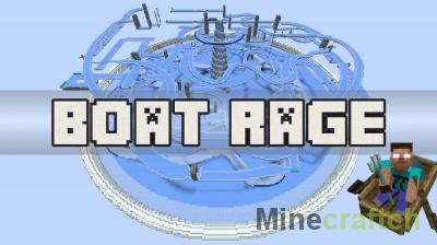 Карта Boat Rage — спуск на лодке по льду в Minecraft 1.13