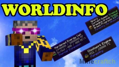 Мод WorldInfo для Minecraft 1.13