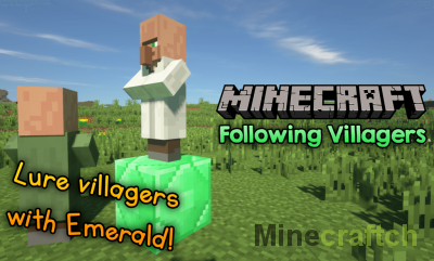 Following Villagers Mod [1.14.4] [1.13.2] [1.12.2]