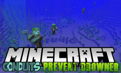 Conduits Prevent Drowned Mod [1.15.1] [1.14.4] [1.13.2]