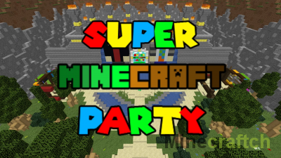 Super Minecraft Party [1.15.2] – карта с мини-играми