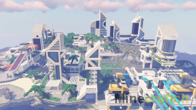 Large Futuristic City [1.15.2] — карта города будущего