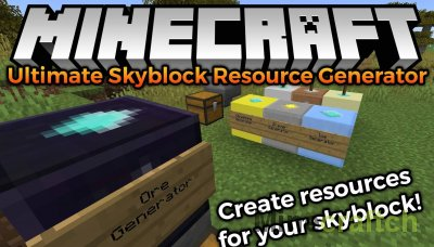 Ultimate Skyblock Resource Generator Mod [1.16.3] [1.15.2] [1.14.4] [1.12.2]