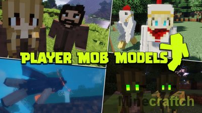 Player Mob Models Resource Pack [1.16.5] [1.15.2]
